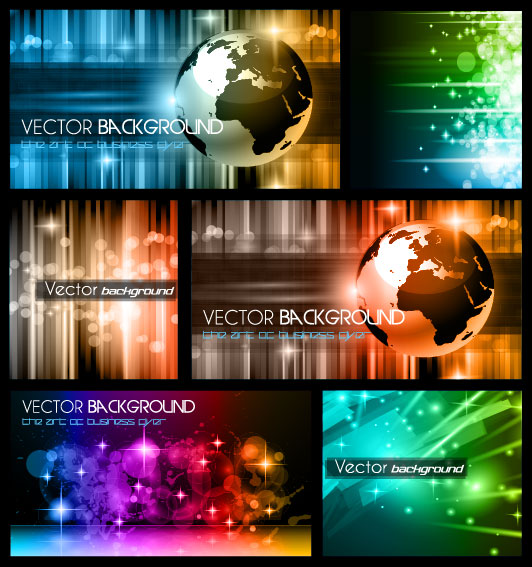 Colorful trend of dynamic background 01 - vector material