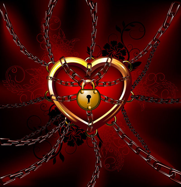 Heart lock vector material