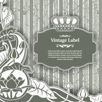 Classic pattern label 05 - vector material