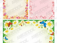 2 lace flowers composed of vector material