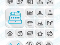 Simple graphical style icon vector material Posts