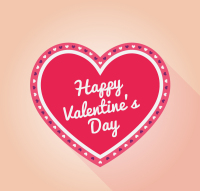 Valentine love pink lace vector material