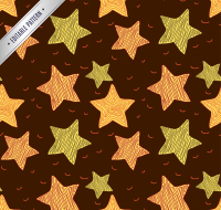 Colored stars seamless background vector material
